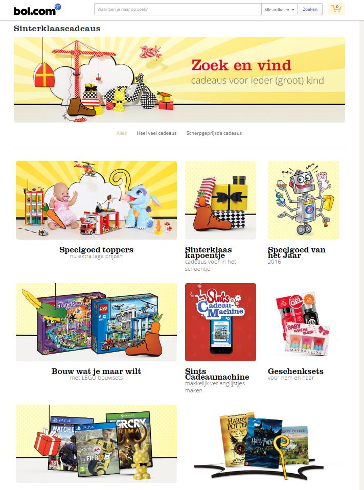 Bol.com speelt in op de feestdagen met categoriepaginas.png