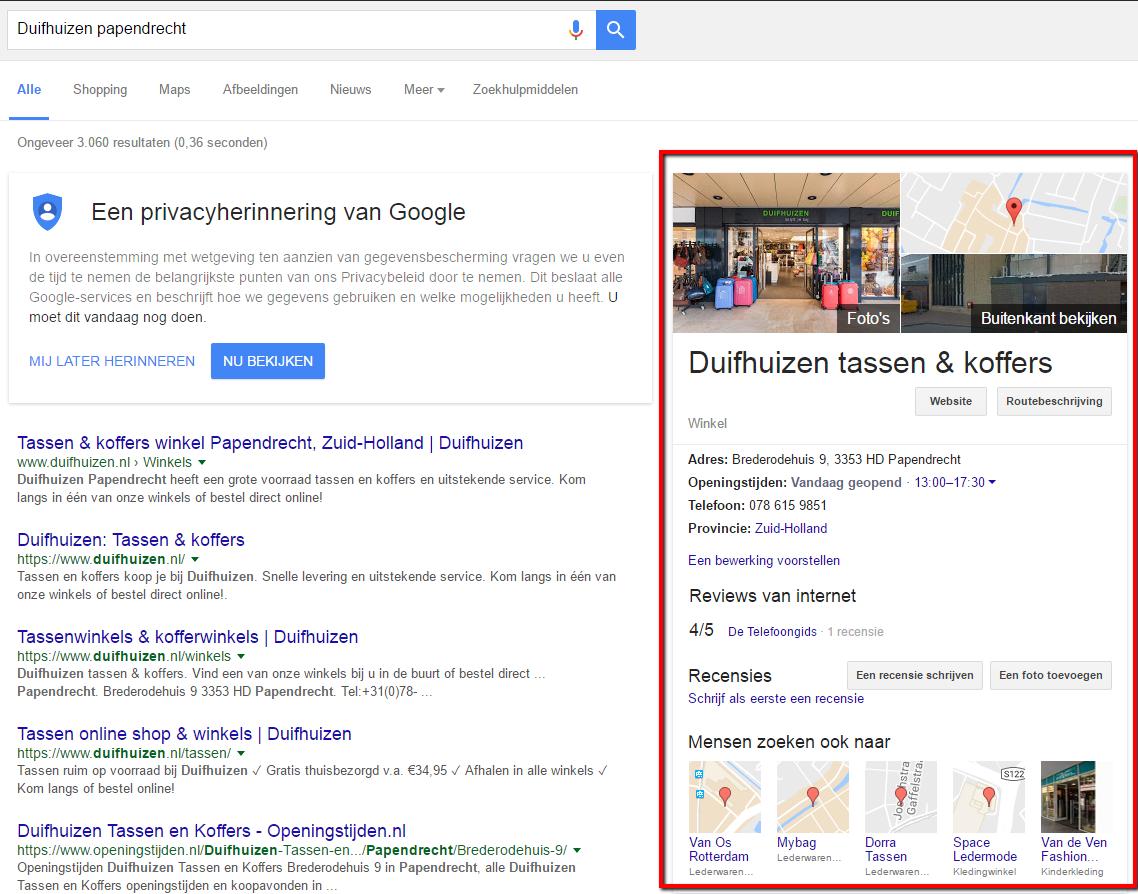 afbeelding 13 resultaat door het instellen van Google My Business Account.png