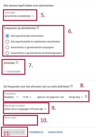 stappenplan inzetten google ads regel