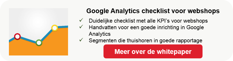 Google Analytics checklist voor webshops & e-commerce